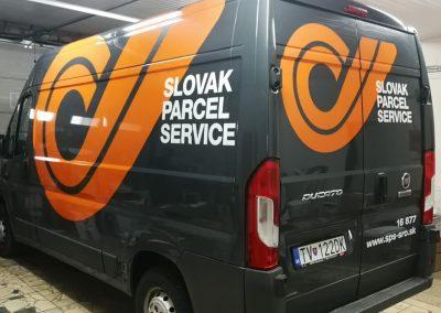 Polep dodávky pre Slovak Parcel Service