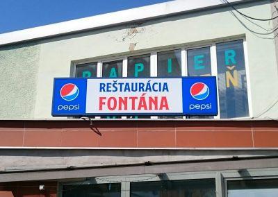 Reštaurácia Fontána Trebišov - svetelný box - renovácia